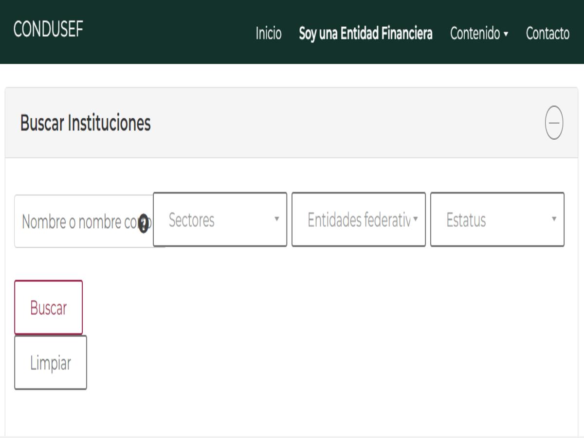 Sistema de registro de prestadores de servicios financieros