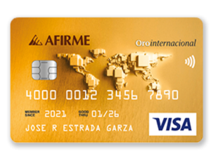 Mejores tarjetas de Crédito 2021 Afirme Oro